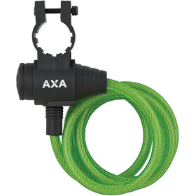 Axa Zipp Candado Cable Espiral Ø8mm 120cm, green